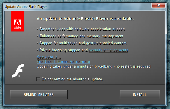 flashplayer updates